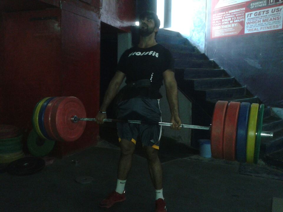 Deadlift  I also like the bend in the bar - Piyush Pandey