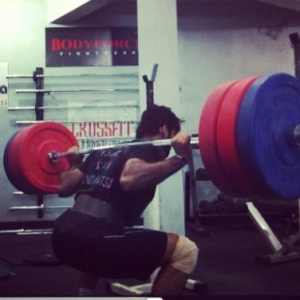 Coach Piyush Pandey Low bar back squat