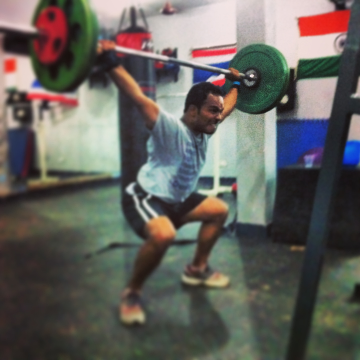 Coach Naveen made PR on Overhead Squats - 70kg