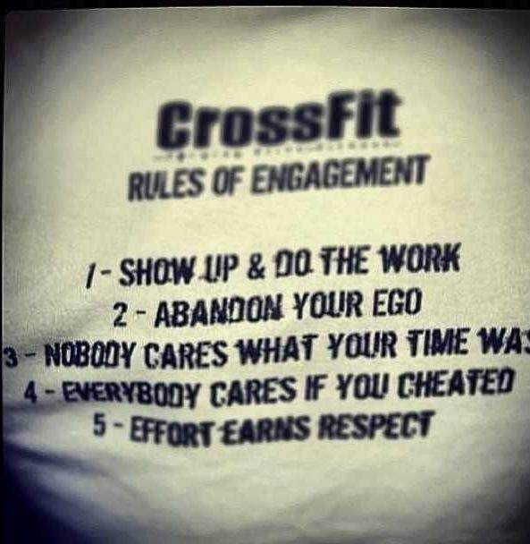Crossfit Golden Words !!!