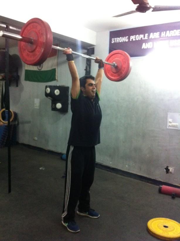 Roahil Kapur _ PR dude _ Clean n Jerk _ 135 lbs